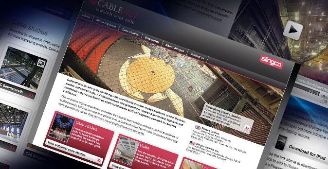 Design and production of website for Cablenet