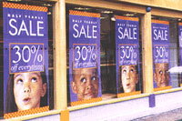 Point of sale window display