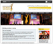 Nurse Awards website including online entries, voting and seat booking